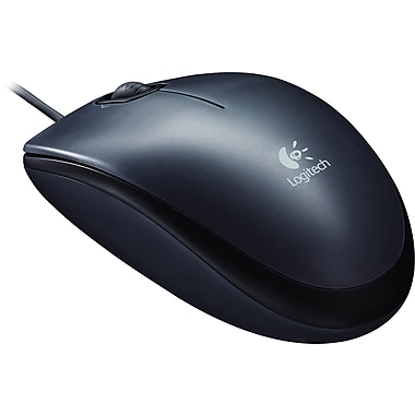 Logitech M100 Wired USB Optical Mouse, Charcoal