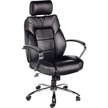 Comfort Products Commodore II Oversize Big and Tall Leather Chair, Black