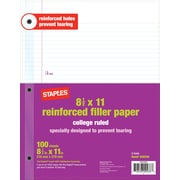 Staples® Reinforced Filler Paper