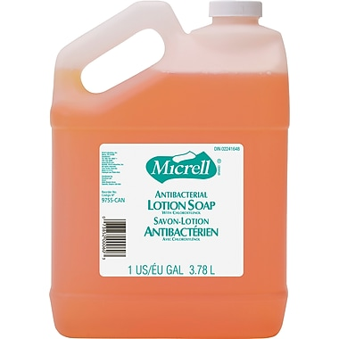 Micrell Antibacterial Hand Soap, Lemon Citrus, Refill, 1 gal.