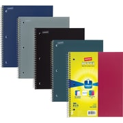 "Staples Accel Durable Poly Cover 3 Subject Notebook, Assorted Colors, 8-1/2"" x 11"", Each (20037M)"