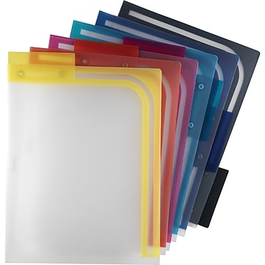 Staples Better™ Poly File Folders, Letter, Assorted, 6/Pack (39414)