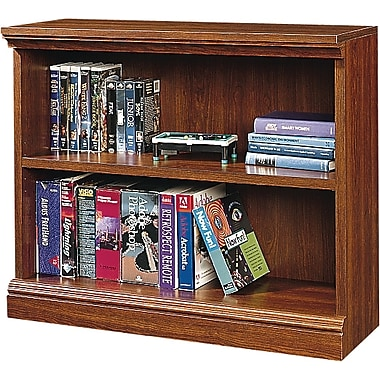 Sauder Premier 2-Shelf Composite Wood Bookcase, Planked Cherry Finish