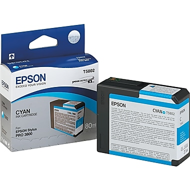 Epson T580 80ml Cyan Ink Cartridge (T580200)