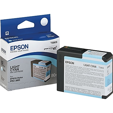 Epson T580 UltraChrome K3 Ink Cartridge, Light Cyan (T580500)