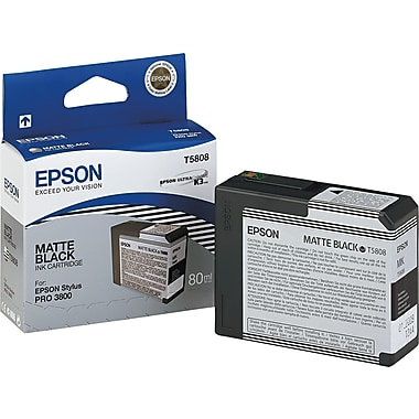 Epson® T580800 UltraChrome K3 Ink Cartridge, Matte Black