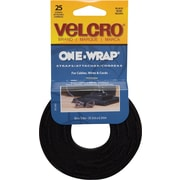 VELCRO® Brand ONE-WRAP® Straps, Black, 25/Pack