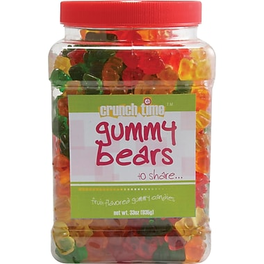 Crunch Time Gummy Bears, 33 oz.