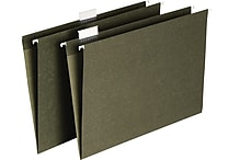 Staples® Hanging File Folders, 5-Tab, Legal, Standard Green, 25/Box (116830)