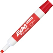 EXPO® Low Odor Chisel Tip Dry Erase Markers, Red, Dozen