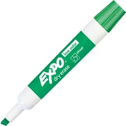 EXPO® Low Odor Chisel Tip Dry Erase Markers, Green, Dozen