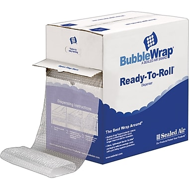 Sealed Air Bubble Wrap 5/16in.  Thick 12in.X100' Poly Roll w/Dispenser Box