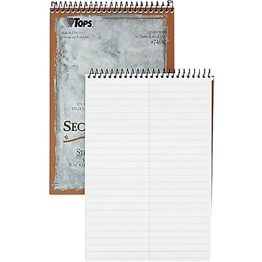 TOPS® Steno Books, Second Nature, Recycled, 6x9in., Gregg Rule, White, 70 Sheets/Pad
