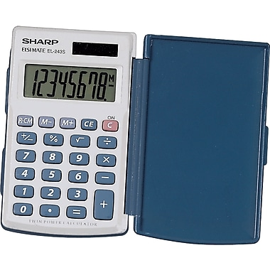Sharp EL-243SB  8 Digit Solar Handheld Calculator