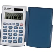 Sharp® EL-243SB  8 Digit Solar Handheld Calculator