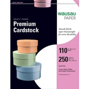 """Wausau Papers® EXACT® 40508/48508 Index Paper, 8 1/2""""(W) x 11""""(L), White"""