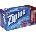 Ziploc Storage Bags, 1 Quart, Clear, 1.75 Mil, 50/Box