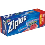 Ziploc® Storage Bags, 1 Gallon, Clear, 1.75 Mil, 40/Box