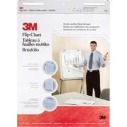 """3M® Flip Chart, 25"""" x 30"""", Plain White, 2/PK, (570)"""