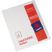 "Avery Allstate®Preprinted Legal Exhibit Dividers, Side Tab, Tab Titles 1-25, White, 8 1/2"" x 11"""