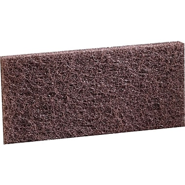 3M Doodlebug Heavy Duty Cleaning Pad, Brown, 5/Bx