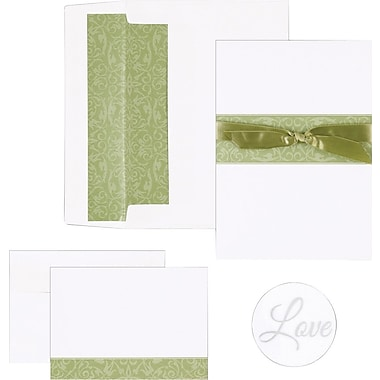 Sage Swirl Band Invitation and Note Card Kit