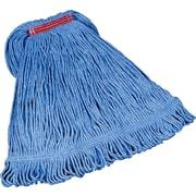 "Rubbermaid® FGD21306 Super Stitch Blend Mop, Large, 1"" Headband, Blue"