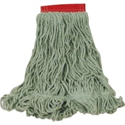 "Rubbermaid Super Stitch® Recycled Blend Mops, Large, Green, 5"" Headband"