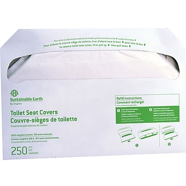 Sustainable Earth Toilet Seat Covers, 2500/carton