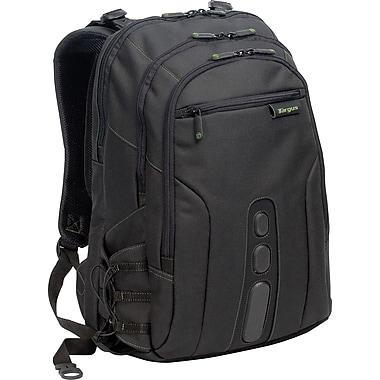 Targus® TBB013US Spruce Backpack For 15.6in. Laptops, Black/Green