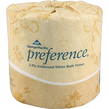 Preference® 95% Recycled Embossed Bath Tissue Rolls, 2-Ply, 80 Rolls/Case