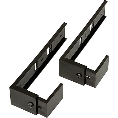 Deflecto® Adjustable Partition Brackets for Expanding Wall Pockets, Black