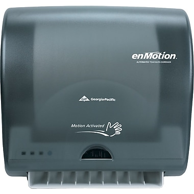 enMotion® Impulse® 10 Automated Towel Dispenser, Translucent Smoke