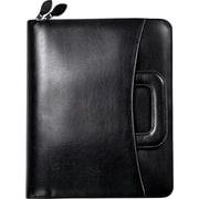 "FranklinCovey Sierra Binder w/Instructional Starter Set, Sim Leather, Black, Zipper Closure, Monarch: 8 1/2"" x 11"""