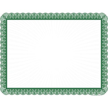 Great Papers® 24 lb. Green Value Certificates, 100/Pack