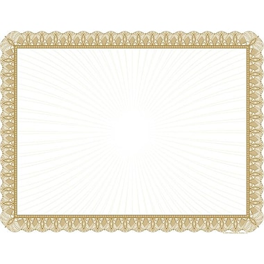 Great Papers® 24 lb. Gold Value Certificates, 100/Pack
