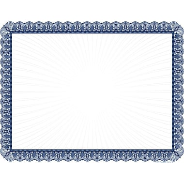Great Papers® 24 lb. Blue Value Certificates, 100/Pack ...