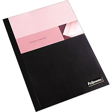 Fellowes Thermal Binding Presentation Covers, Letter, 1/8in., 30 Sheets, 10 Pack, Black