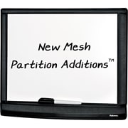 "Fellowes® Mesh Partition Additions™ Dry Erase Board, Black, 11"" x 14"""