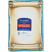 Design Paper, 24 lbs., Scroll, 8-1/2 x 11, Natural, 100/Pack