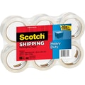 Scotch® Heavy-Duty Packaging Tape, Clear, 1.88in. x 54.6 yds, 6 Rolls