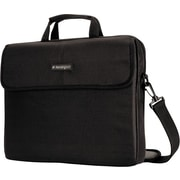 "Kensington® SP10 15.4"" Laptop Sleeve, Padded Interior, Inside/Outside Pockets, Black, 12""H x 17""W x 1 1/2""D"