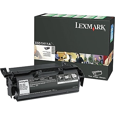 Lexmark™ X651H11A Black Toner Cartridge, High-Yield Return Program