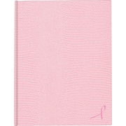 "Large Executive Notebook w/Cover, College/Margin, 7 1/4"" x 9 1/4"", College Ruled, Pink, 75 Sheets"