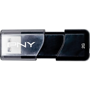 PNY Attache 3 USB 2.0 USB Flash Drives (Black)