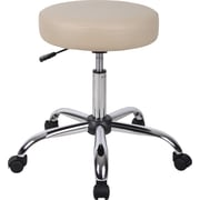 Boss® Caressoft™ Faux Leather Backless Doctor's Stool, Beige