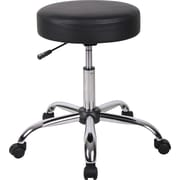 Boss® Caressoft™ Faux Leather Backless Doctor's Stool, Black