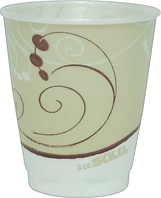 Solo Symphony Styrofoam Hot & Cold Cups, 8 Oz., Design, 300/Ct 916001