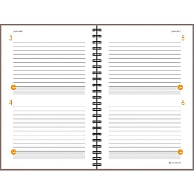 AT-A-GLANCE® Two Days Per Page Planning Notebook, Gray, 6