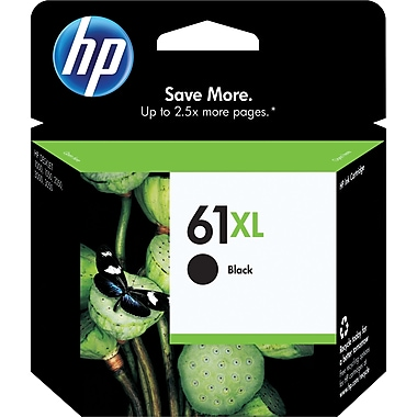 HP 61XL Ink Cartridge, High Yield, Black (CH563WN#140)